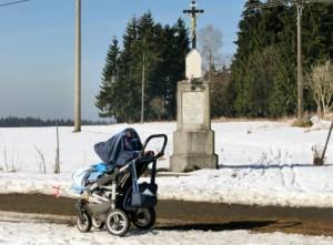 Výlety z obce Horní Polubný jsou možné i s kočárkem