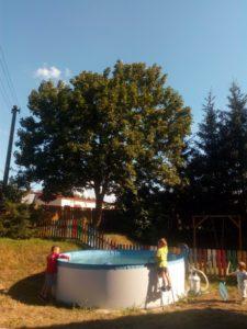 Bazének u penzionu