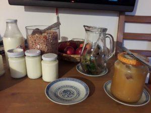 Ekofarma Rytířova Lhota - snídaně